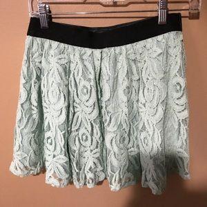 BCBGeneration Skirts - NWT BCBG Mint Green Lace Mini Skirt